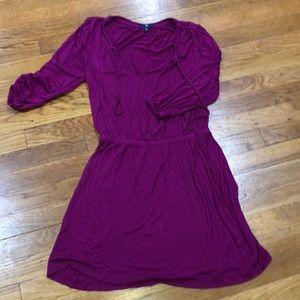 Gap magenta swing dress
